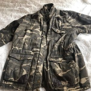 Jackets & Blazers - New WO tags green camo army jacket spring coat